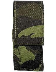 MFH - Funda pequeña de navaja (acolchada, para caza, montañismo y airsoft, estampado de camuflaje)