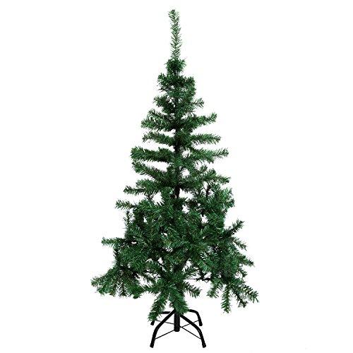 AIMADO PVC künstliche Weihnachtsbaum Weihnachten Dekorativer Baum mit Metallständer Festival Weihnachtsdeko 1.2m bis 2.1m (120 x 65cm)