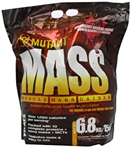 PVL Mutant Mass 6800 g Strawberry and Banana Weight Gain Shake Powder from Tropicana Health & Fitness Ltd