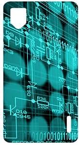 Techno Circuit Board White Back Cover Case for LG Optimus G E975