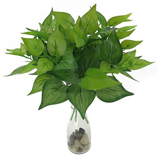 Künstliche Zweige Blätter Grün Kunststoff Pflanzenblätter für Girlande Heim Deko