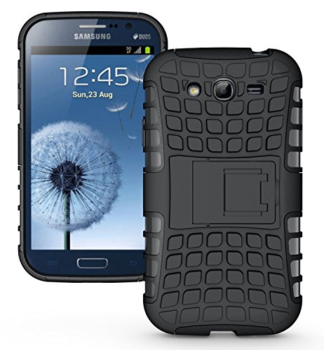 MACC Defender Series Dual Layer Hybrid TPU + PC Kickstand Case Cover for Samsung Galaxy Grand 2 / GRAND2 / SM-G7106 / G7102 / G7106 - Black