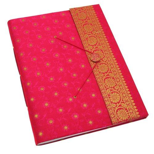 Paper High Fair Trade Fotoalbum Sari 260 x 350 mm extra groß - Cerise (Großes Extra Fotoalbum)