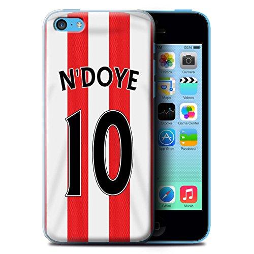 Offiziell Sunderland AFC Hülle / Case für Apple iPhone 5C / Fußballer Muster / SAFC Trikot Home 15/16 Kollektion N'Doye