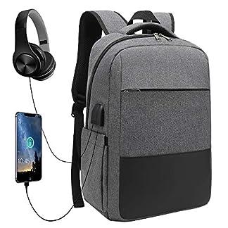 51wa vEwjjL. SS324  - XQXA Mochila Ordenador Portátil,Negocios Mochila Hombre de Laptop Impermeable con USB Puerto de Carga 15.6 Pulgados Multifunción Daypacks Escolares Adecuado para Viajes,Trabajo,Senderismo