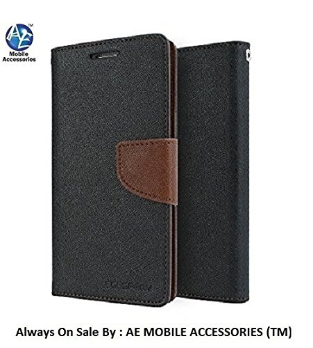 AE Mercury Goospery Fancy Diary Wallet Flip Case Cover for Samsung Galaxy S4 i9500 BLACK BROWN