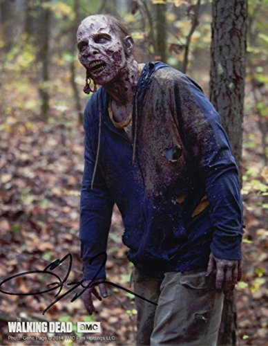 gregory-french-signed-walking-dead-walker-zombie-color-8x10-with-coa