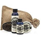 Mountaineer Brand - 100% Natural Complete Beard Care Kit -Beard Wash, Beard Oil, Beard Balm, Beard Brush