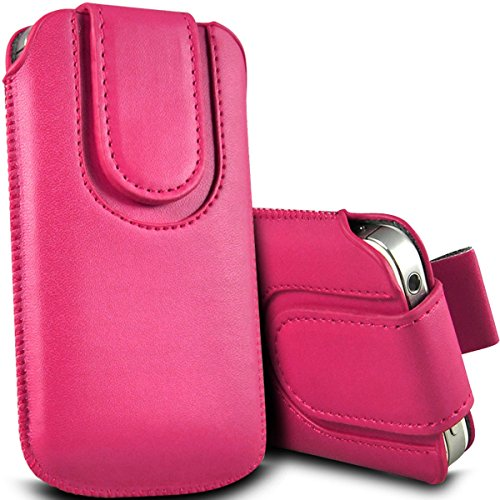 Digi Pig–Apple Iphone 5S Colore resistente Pull Tab Pouch con chiusura magnetica Rosa  - Hot Pink