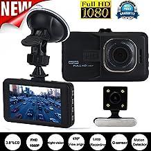 """peibo XC241080P LCD 3.0""""HD Doble Lente Coche Cámara de vídeo DVR Cam Recorder visión nocturna"""