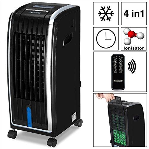 Monzana® 4in1 mobile Klimaanlage Luftkühler Klimagerät Ventilator Ionisator Luftbefeuchter • mit Fernbedienung • Timer • 3 Gebläsestufen • 7 Liter Tank