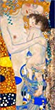 Posterlounge Leinwandbild 40 x 80 cm: Mutter mit Kind von Gustav Klimt - fertiges Wandbild, Bild auf Keilrahmen, Fertigbild auf echter Leinwand, Leinwanddruck