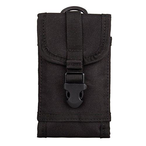 Smartphone Tasche, Outdoor Sports Multifunktional Zubehör Tasche Schlüssel Handy Taille Pack Schutzhülle mit Gürtelschlaufe und verstellbarem Schloss-Verriegelung, schwarz (Multi-gun-case)