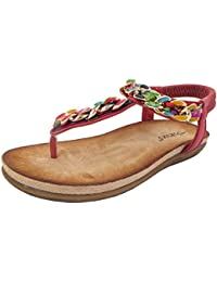 11d299b36 Boulevard Helen Elasticated Multi Jewel Trim Toe Post Summer Sandals