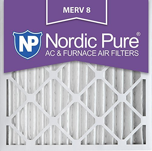 Nordic Pure 20 x 20 x 2 m8-3 MERV 8 Bundfaltenhose AC Ofen Air Filter, 20 x 20 x 2, Box of 3
