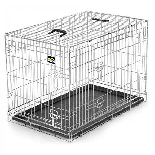 ig Transportkäfig Transportbox Tierkäfig Drahtkäfig faltbarer Käfig aus Metall mit herausnehmbarer Kunststoffwanne ()