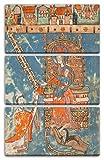 ca. 1400 - Manuskriptblatt mit Widmung eines Buches zur Jungfrau (Made in Swabia), 80 x 120 cm (Dreiteiler, 3 x 80x40cm) (weitere Größen verfügbar), Leinwand auf Keilrahmen gespannt und fertig zum Aufhängen, hochwertiger Kunstdruck aus deutscher Produktion