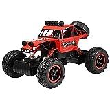 Profun 4WD RC Rock Crawler Ferngesteuertes Auto 2.4GHz 1/12 Remote Control Crawler Truck Geländewagen Wiederaufladbare Batterien Enthalten (Rot3)