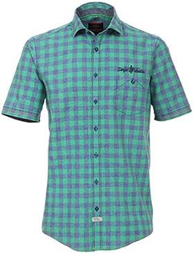 CasaModa - Herren Freizeit Hemd kurzarm grün kariert