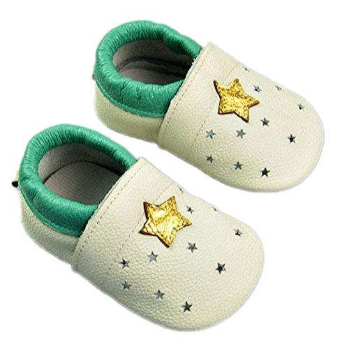 Weicher Leder Lauflernschuhe Krabbelschuhe Babyschuhe für Baby Jungen Mädchen mit vielen Modelle Style 12