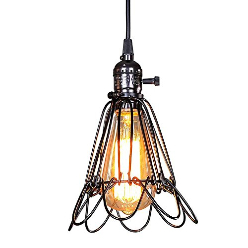 Lamdari Retro Industrie Wind Eisen Pendelleuchte Restaurant Bar Schlafzimmer Küche Industrie Vogelkäfig Pendelleuchte Beleuchtung