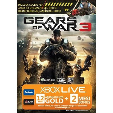 Xbox Live - Gold Card 12 Mesi + 2 Mesi Bonus per Gears Of War 3