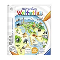 Ravensburger-tiptoi–Atlas-Buch-Mein-groer-Weltatlas-Kinder-Weltkarte-Lnder-Tiere-Kontinente