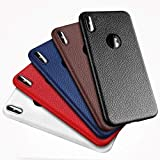 Coque iPhone 7, Coque iPhone 8, Cuir, Pas Cher, agréable, Fun, Luxueux, Noir, Bleu, Rouge, Housse Etui Coque Cover Cuir pour iPhone 7/8