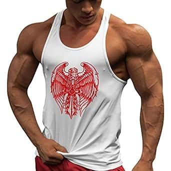Image indisponible. Image non disponible pour la couleur   JiXuan Maillot  d entraînement Gymnases Maillot Fitness Débardeur Hommes Stringer  Bodybuilding ... 6e7dfb00f89