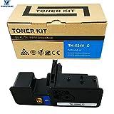 VICTORSTAR @ Cartucho de Tóner Compatible TK5240 / TK-5240 para Impresoras Láser Kyocera ECOSYS P5026cdn / P5026cdw / M5526cdn / M5526cdw (Cyan)