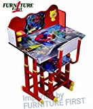 #5: FF American Mickey Mouse Team Graphics and Fully Laminated Kids Study Table & Chair Set for Kids Age between 3-10 Years, imported by FURNITURE FIRST