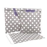 25 Frau Wundervoll Papiertüten / Geschenktüten / Candy Paper Bags - hellgrau/taupe mit weißen Punkten -