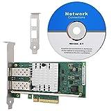 Diyeeni PCI-E-Netzwerkkarte, 10-Gigabit-Ethernet-Desktop-Netzwerkkarte + Treiber-CD + Low Profile-Halterung, 10G-Ethernet-Server-Netzwerkadapter mit vergoldeter PCI-Schnittstelle