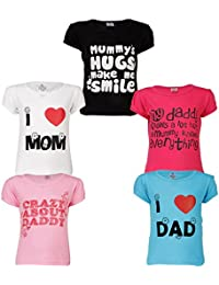 GOODWAY Girls' T-Shirt (Pack of 5)