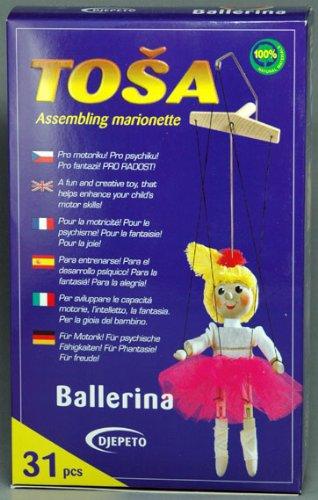 djepeto Puppet giocattolo in legno kit-ballerina