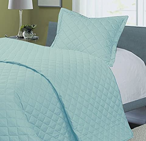 Love2Sleep EGYPTIAN COTTON COT BED BEDSPREAD/ DUVET 2.5 TOG/ THROW/ BLANKET - DUCK EGG BLUE