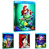 Pack Princesas Disney (La Sirenita + Enredados + Mulán + Tiana Y El Sapo + Bella Y Bestia + La Cenicienta + Brave) [Blu-ray]