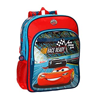 Mochila escolar Cars Race 40cm doble compartimento