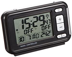 tfa radio controlled alarm clock with temperature. Black Bedroom Furniture Sets. Home Design Ideas