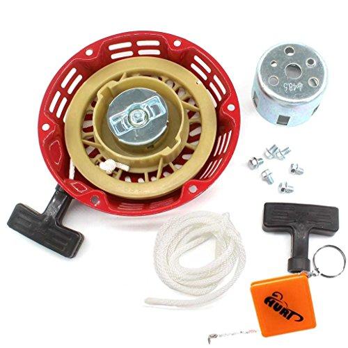 HURI Seilzugstarter Seil Zug Starter für 3KW 5,5 & 6,5 PS Benzinmotoren Stromerzeuger Handstarter mit Cup und Schrauben Startergriff seil