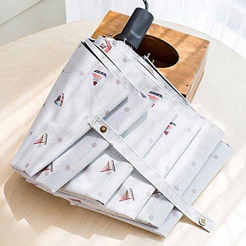 KHSKX Piccolo ombrello fresca serie Corea creative ripiegabile ad ombrello Ombrello pioggia pantina parasole automatico di doppio uso di ombrellone ragazza,1 - Serie Parasole