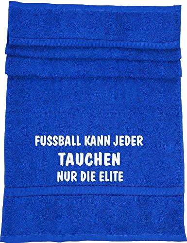 Fußball kann jeder, Tauchen nur die Elite; Badetuch Sport, royalblau (Elite Meer Tauchen)