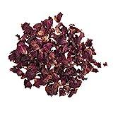 Rayher Hobby 34241000 Rosenblütenblätter, 3g, getrocknet, duftintensive, aromatische Deko, Blütenmischungen, ideal zum Einarbeiten in Badekugeln, Knetseife und Badesalz, Echtblüten, rot