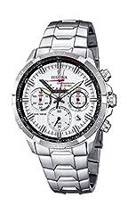 Idea Regalo - Festina-Orologio da uomo al quarzo con Display con cronografo e cinturino in acciaio INOX color argento/F6836 1