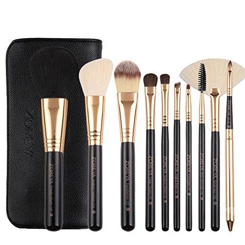 Makeup Brushes,Professionnelle Kits ,Nouveau 10 Pcs Maquillage Pinceau Outils Maquillage Trousse De Toilette Laine Maquillage Pinceau Makeup Brushes Brush Beauté Maquillage