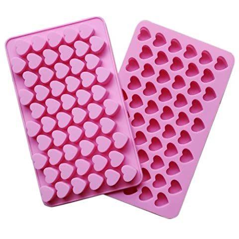 IDH Silicone 55 Heart Cake Chocolate Cookies Baking Mould Ice Cube Soap Mold Tray