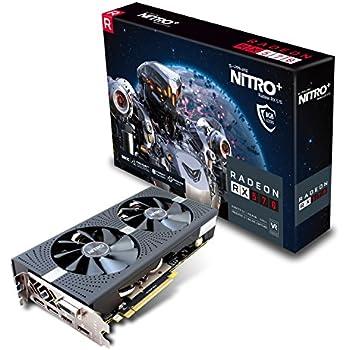 Sapphire Nitro+ Radeon RX 570 8GB GDDR5 - Tarjeta Grafica (GDDR5 Dual HDMI/DVI-D/Dual DP) Negro