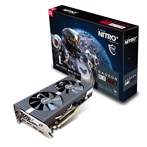 Sapphire RADEON RX 570 8GB GDDR5 NITRO+ Radeon RX 570 8GB GDDR5 - graphics cards (AMD, Radeon RX 570, 3840 x 2160 pixels, 1340 MHz, 8 GB, GDDR5)