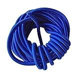 MagiDeal 5m X 5mm Corde Elastique Corde de Bungee Cordon Choc Attache DIY Pour Barres de Toit,Remorques,Kayak Bateau - Bleu