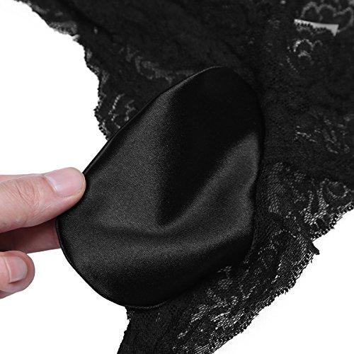 CHICTRY Herren Slip Mini Slip Dessous Reizwäsche Unterhosen Briefs String Unterwäsche Briefs mit Penishülle M-XL Schwarz